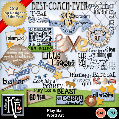Playballwordart