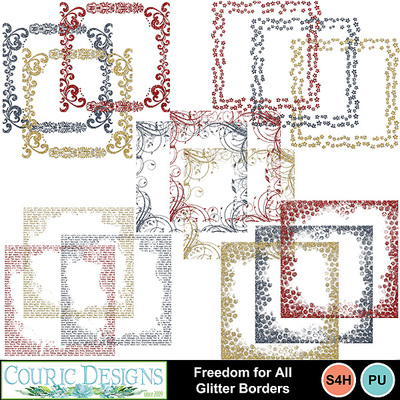 Freedom-for-all-glitter-borders