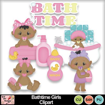 Bathtime_gilrs_clipart