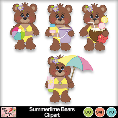 Summertime_bears_clipart_preview