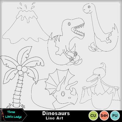 Dinosaurs_line_art-2