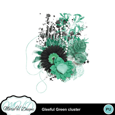 Gleeful-green-cluster