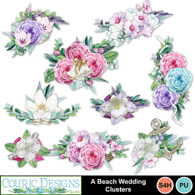 A-beach-wedding-clusters