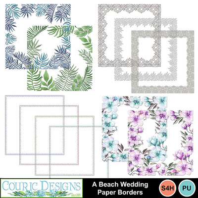 A-beach-wedding-paper-borders