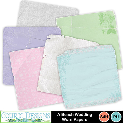 A-beach-wedding-worn-papers