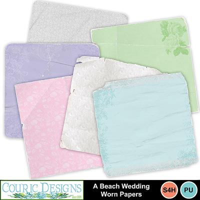 A-beach-wedding-worn-papers