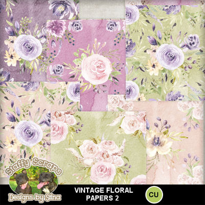 49+ Vintage Spring Digital Papers Crafter Files