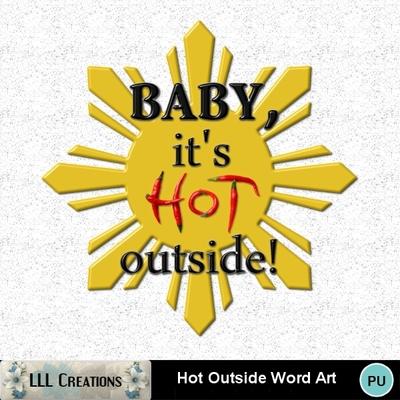 Hot_outside_word_art-01