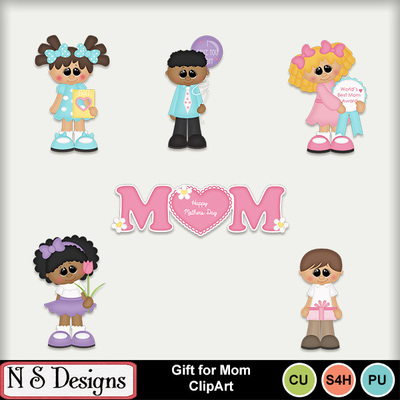 Digital Scrapbooking Kits Gift For Mom Clipart Nsd Commercial Use Family Holidays Mother S Day Kid Fun Love Memories Mymemories