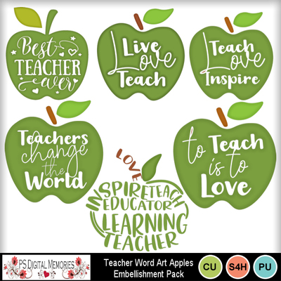 Green_teacher_word_art_apples