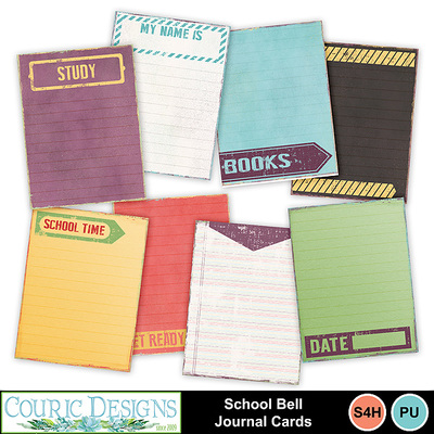 School-bell-journal-cards