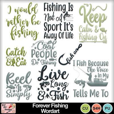 Forever_fishing_wordart_preview