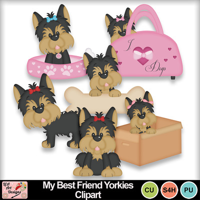 My_best_friend_yorkies_clipart_preview