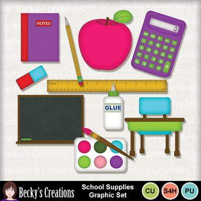 School_supplies_graphic_set