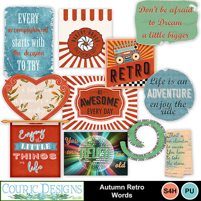 Autumn-retro-words