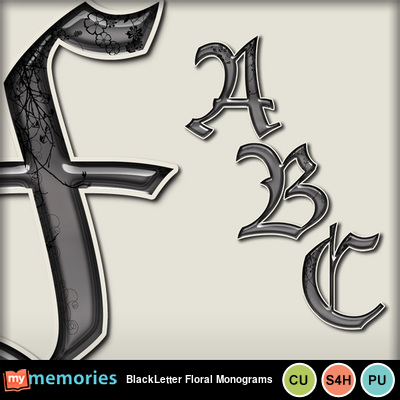 Blackletter_floral_monograms