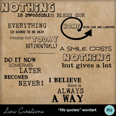 Lifequoteswordart