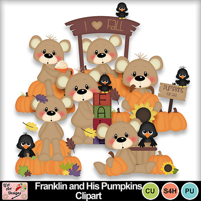 Franklin_and_his_pumpkins_clipart_preview