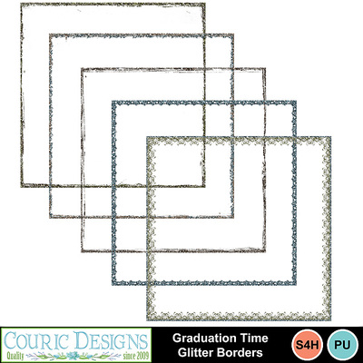 Graduation-time-glitter-borders
