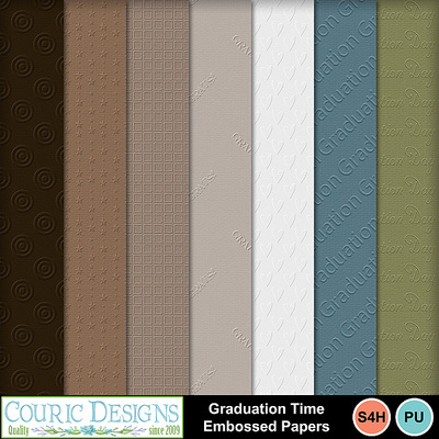 Graduation-time-embossed-papers