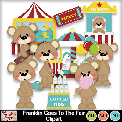 Franklin_goes_to_the_fair_clipart_preview