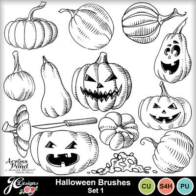 Halloween-brushes-set-1pumpkins