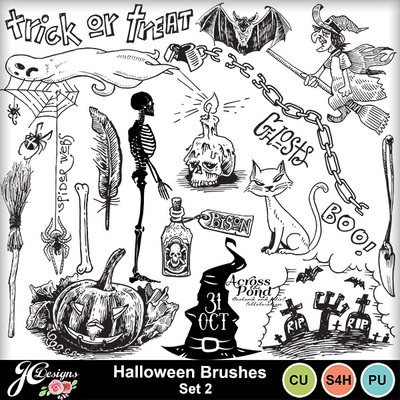 Halloween-brushes-set-2