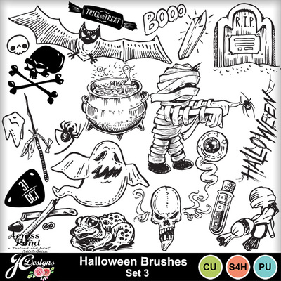 Halloween-brushes-set-3