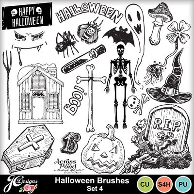 Halloween-brushes-set4