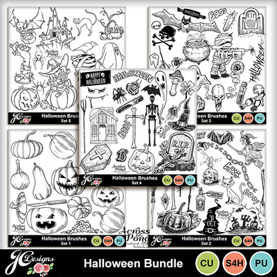 Halloween-brushes-bundle
