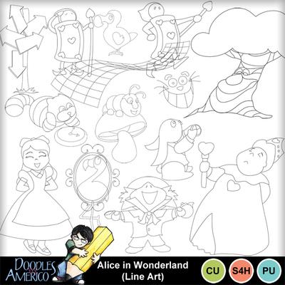 Aliceinwonderland_lineart