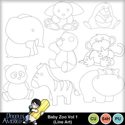 Babyzoovol1-lineart