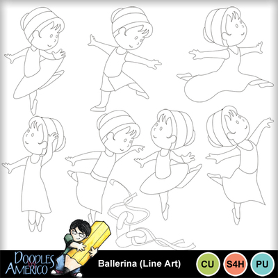 Ballerina_lineart
