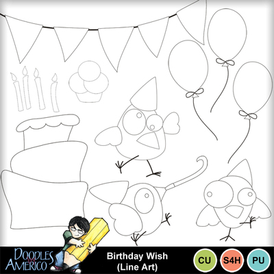 Birthdaywish_lineart