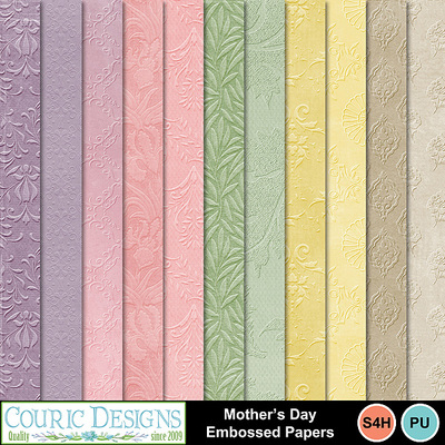 Mothers-day-embossed-papers