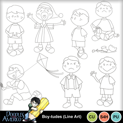Boy-tudes_lineart