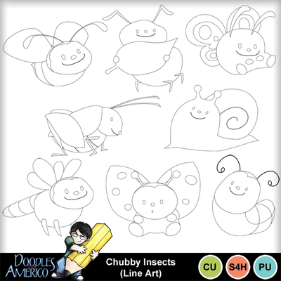 Chubbyinsects_lineart