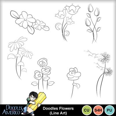 Doodlesflowers_lineart