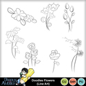Doodlesflowers_lineart_small