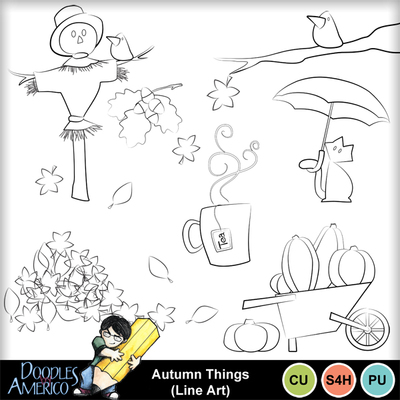 Autumnthings_lineart
