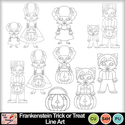 Frankenstein_trick_or_treat_line_art_preview_small