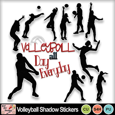 Volleyball_shadow_stickers_preview