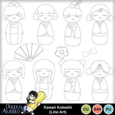 Kawaiikokeshi_lineart