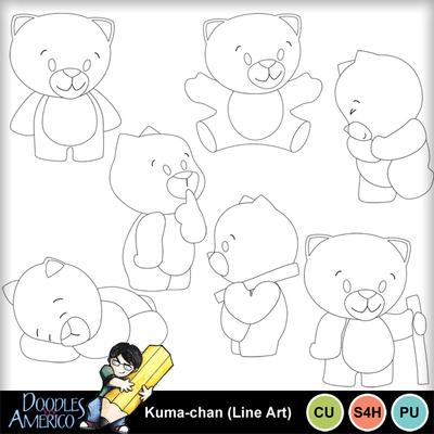 Kuma-chan_lineart