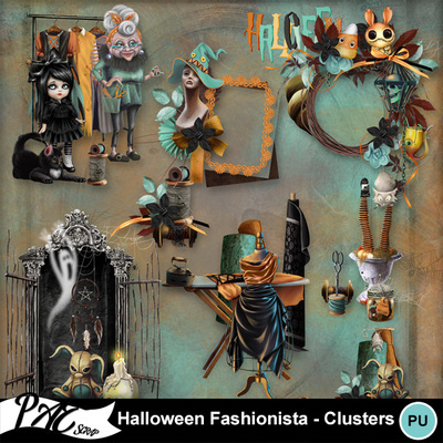 Patsscrap_halloween_fashionista_pv_clusters