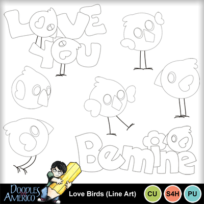 Lovebirds_lineart