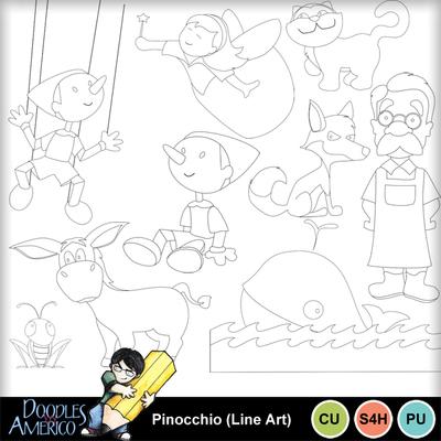Pinocchio_lineart
