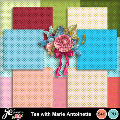Tea-with-marie-antoinette-cardstock