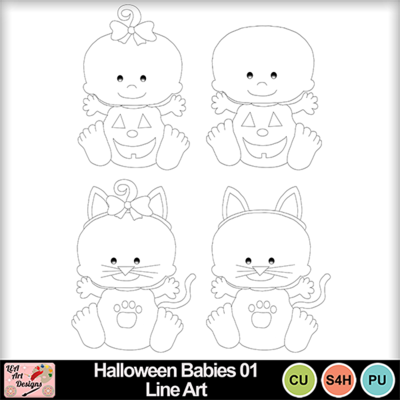Halloween_babies_01_line_art_preview