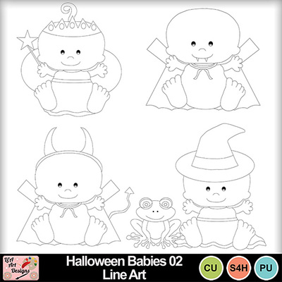 Halloween_babies_02_line_art_preview